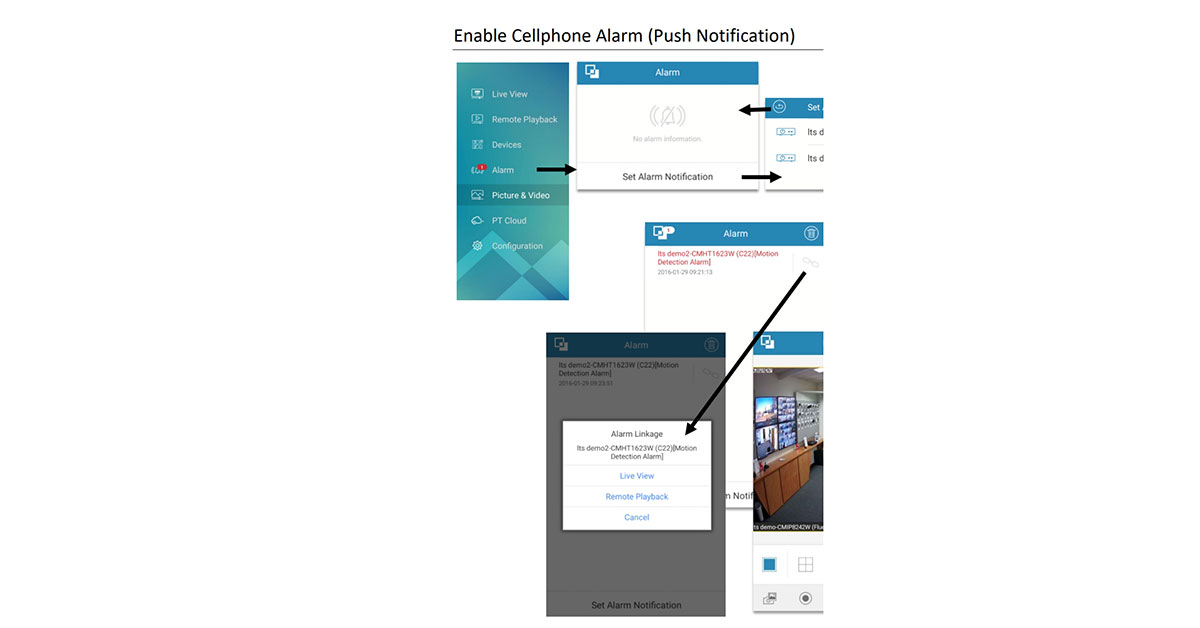 Push notifications for its security cameras